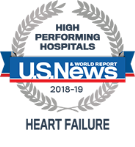 High Performing Hospitals, Heart Failure, U.S. News & World Reports 2018-2019